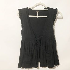 Free People Rebecca Pleated Sweater Vest Size XS